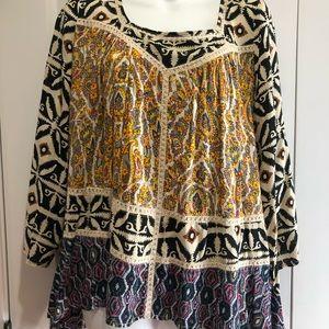 flowy multi-designed boutique blouse